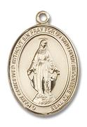 Miraculous Medal - Gold Filled - Large